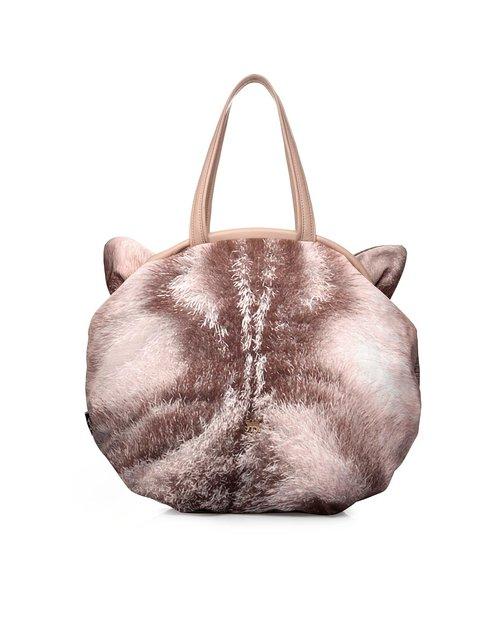 阿特密artmi包包专场女款短毛灰韩版可爱猫咪图案手提
