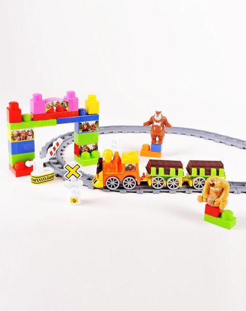 积木拼图序列玩具专场maxim 熊出没积木轨道58