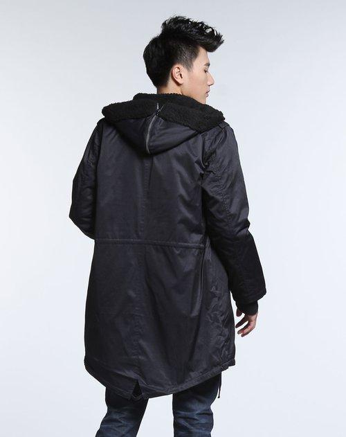 森马男装专场黑色拉链连帽简约长袖外套价格(怎么样)图片