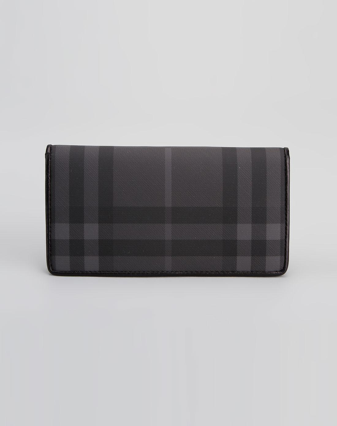 burberry包包专场 > 女款黑色格纹个性钱包