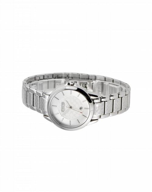 蔻驰coach手表专场女表银色不锈钢表带简约手表