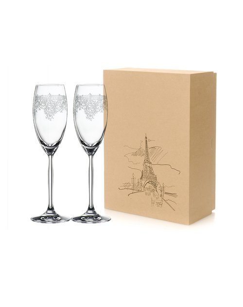 spiegelau 诗杯客乐【renaissance 文艺复兴】:复古花纹 2只香槟杯