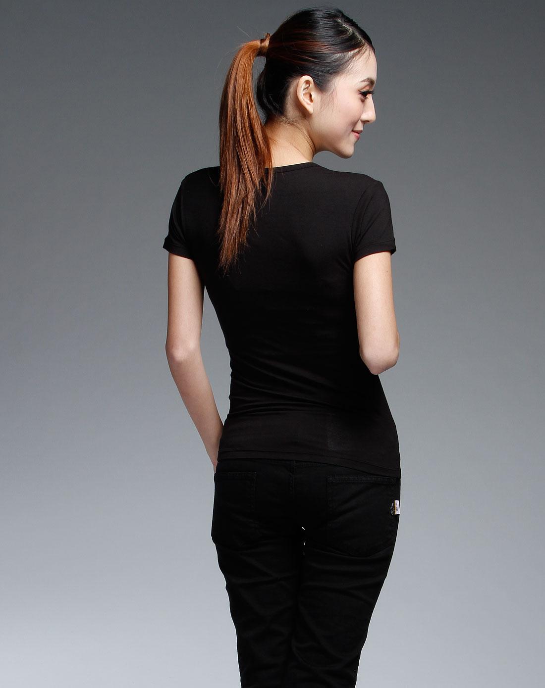 jockey黑色短袖内衣