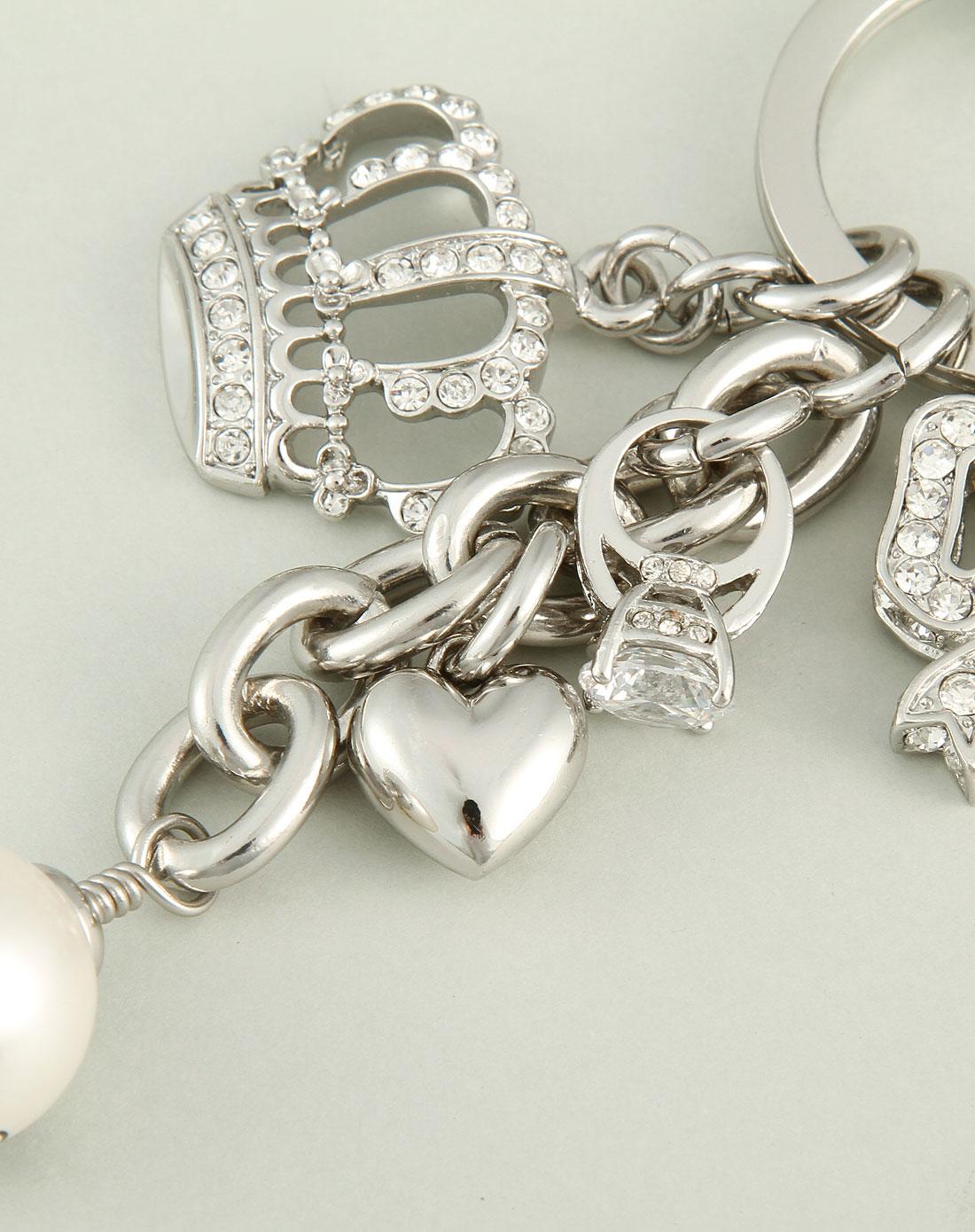 女款金色心形挂饰钥匙串1