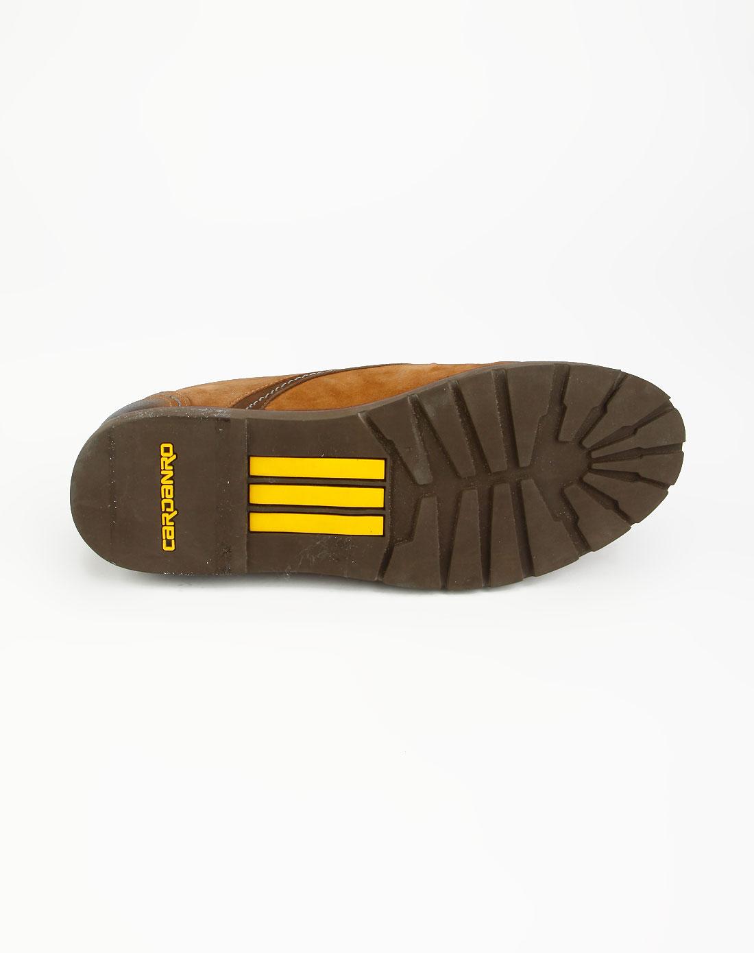 卡丹路cardanro卡其色染面休闲皮鞋y339508