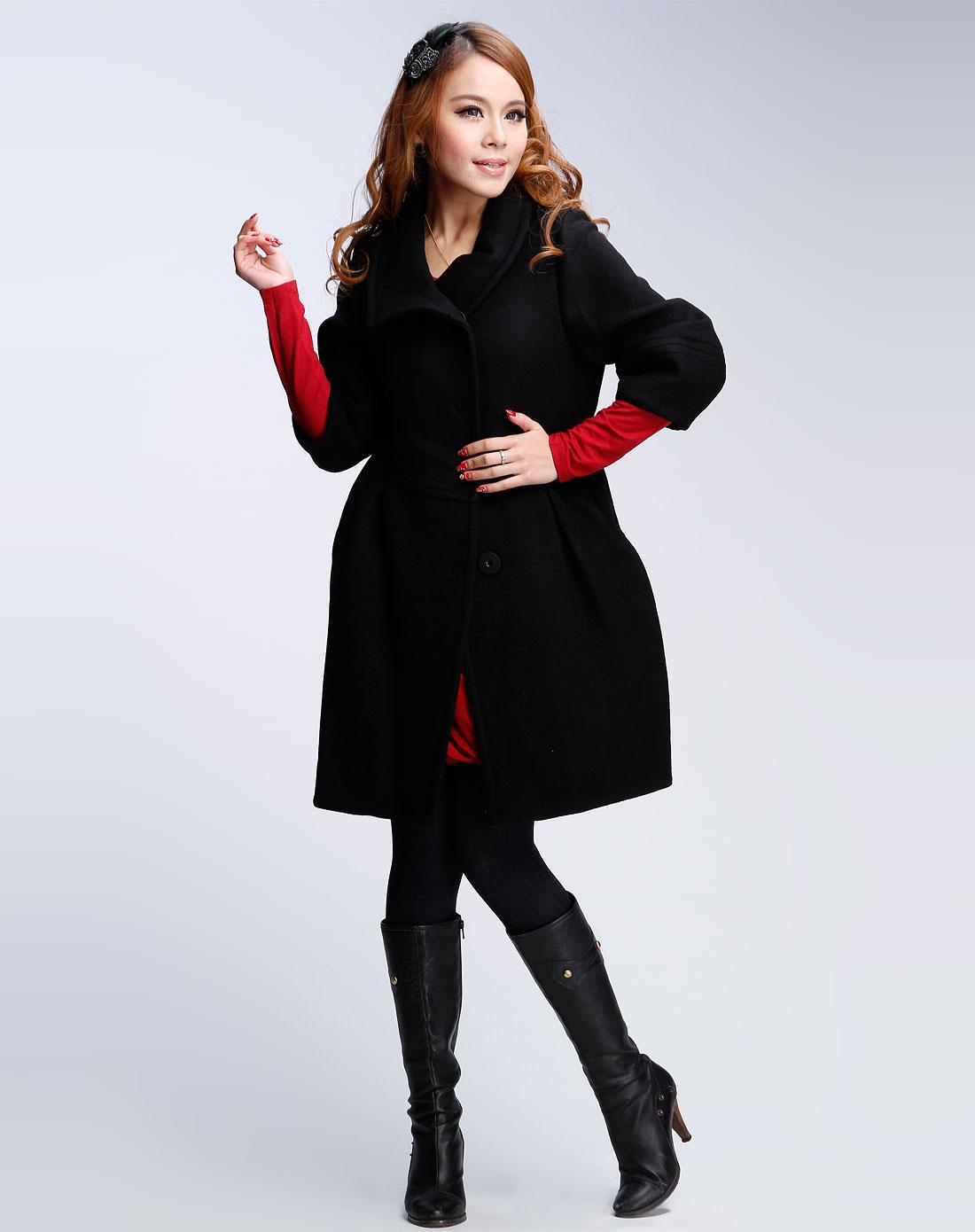 中袖时尚毛呢大衣