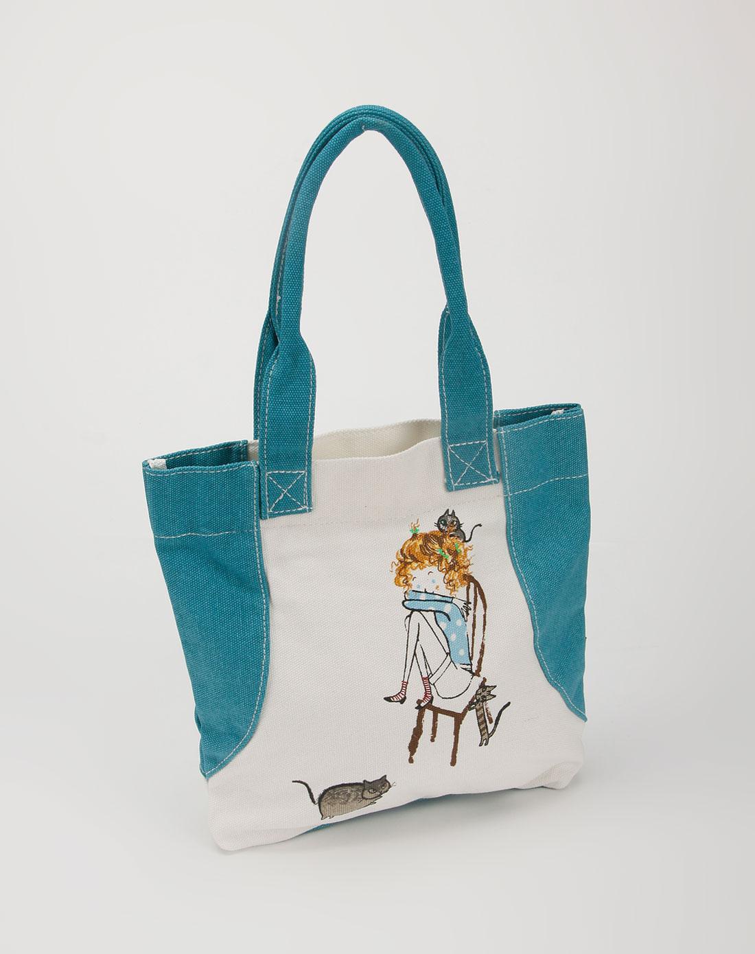 expressarena蓝色帆布手提包