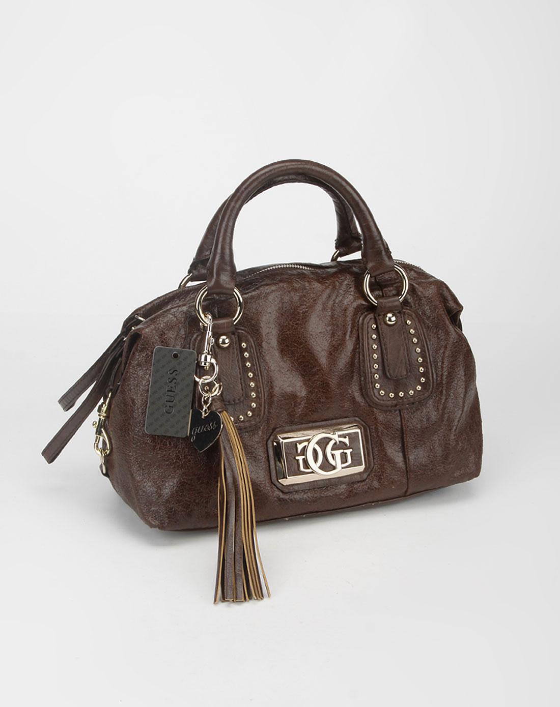 guess-包包guess 女款深啡色时尚手提包