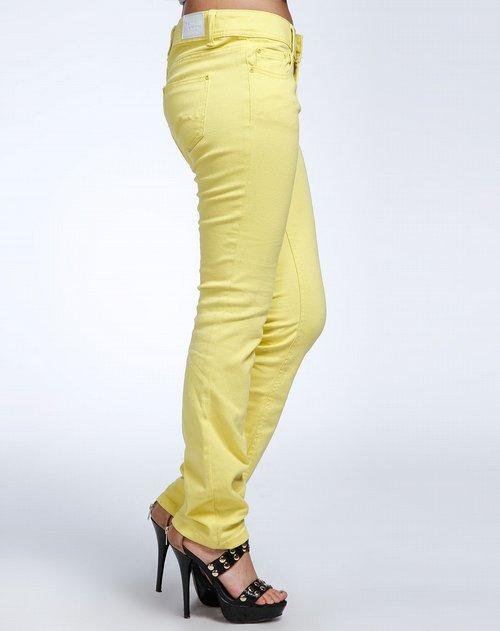 森马-女装黄色时尚简约牛仔裤图片