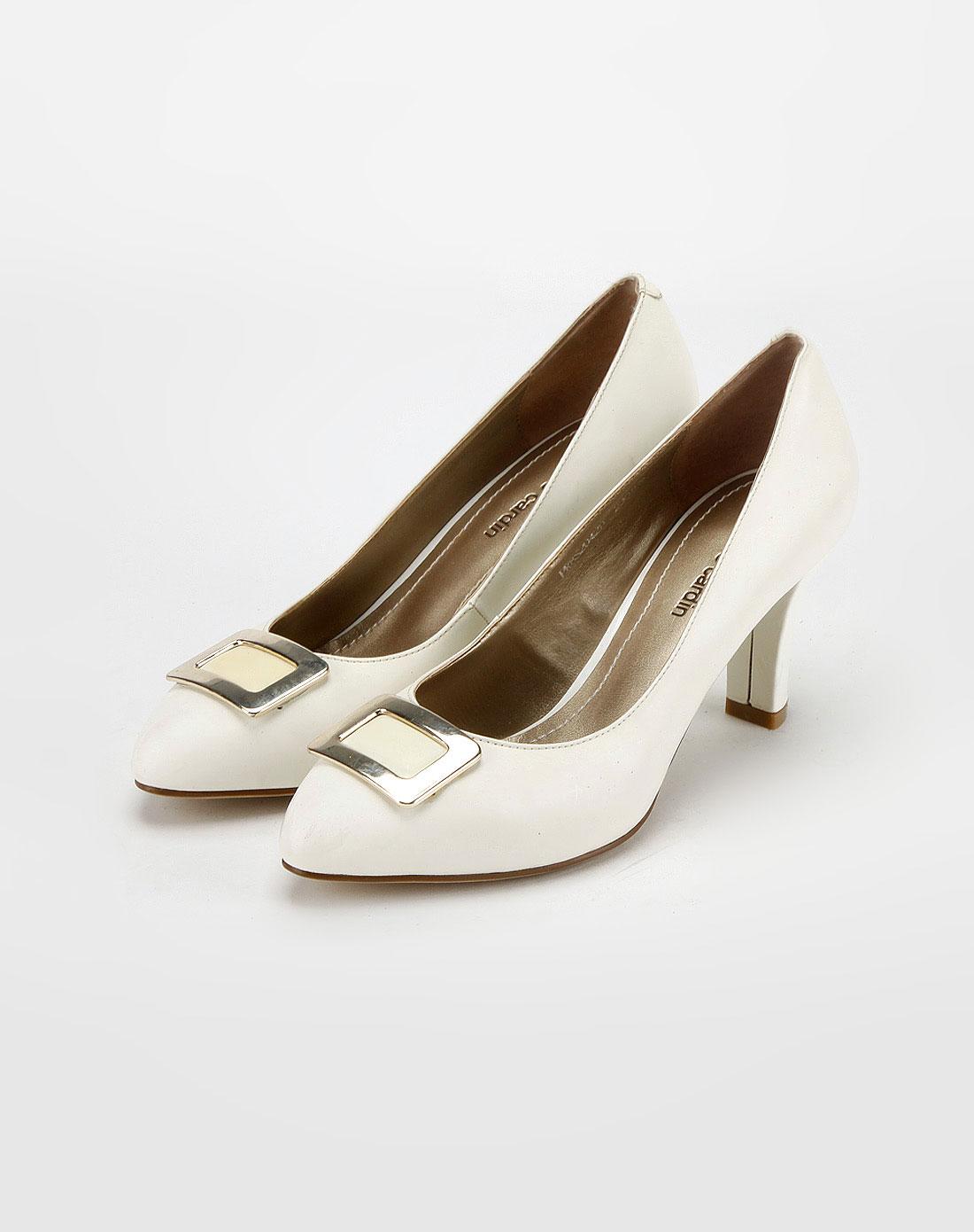 cardin女款灰白色方形扣休闲鞋