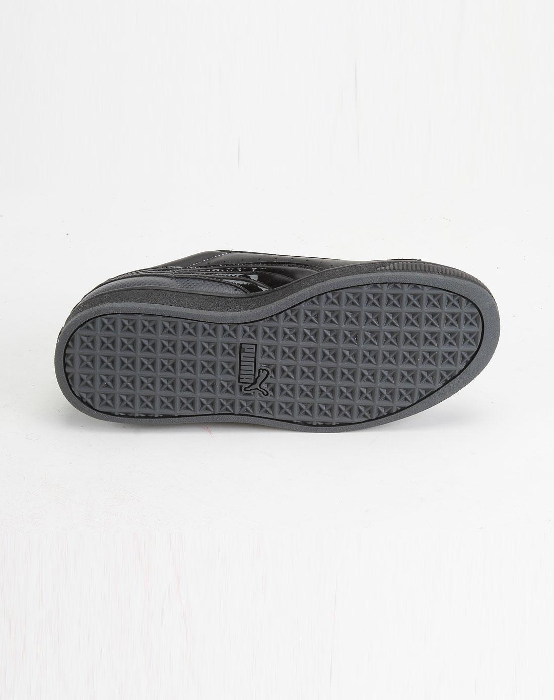彪马puma黑/灰色绑带休闲鞋