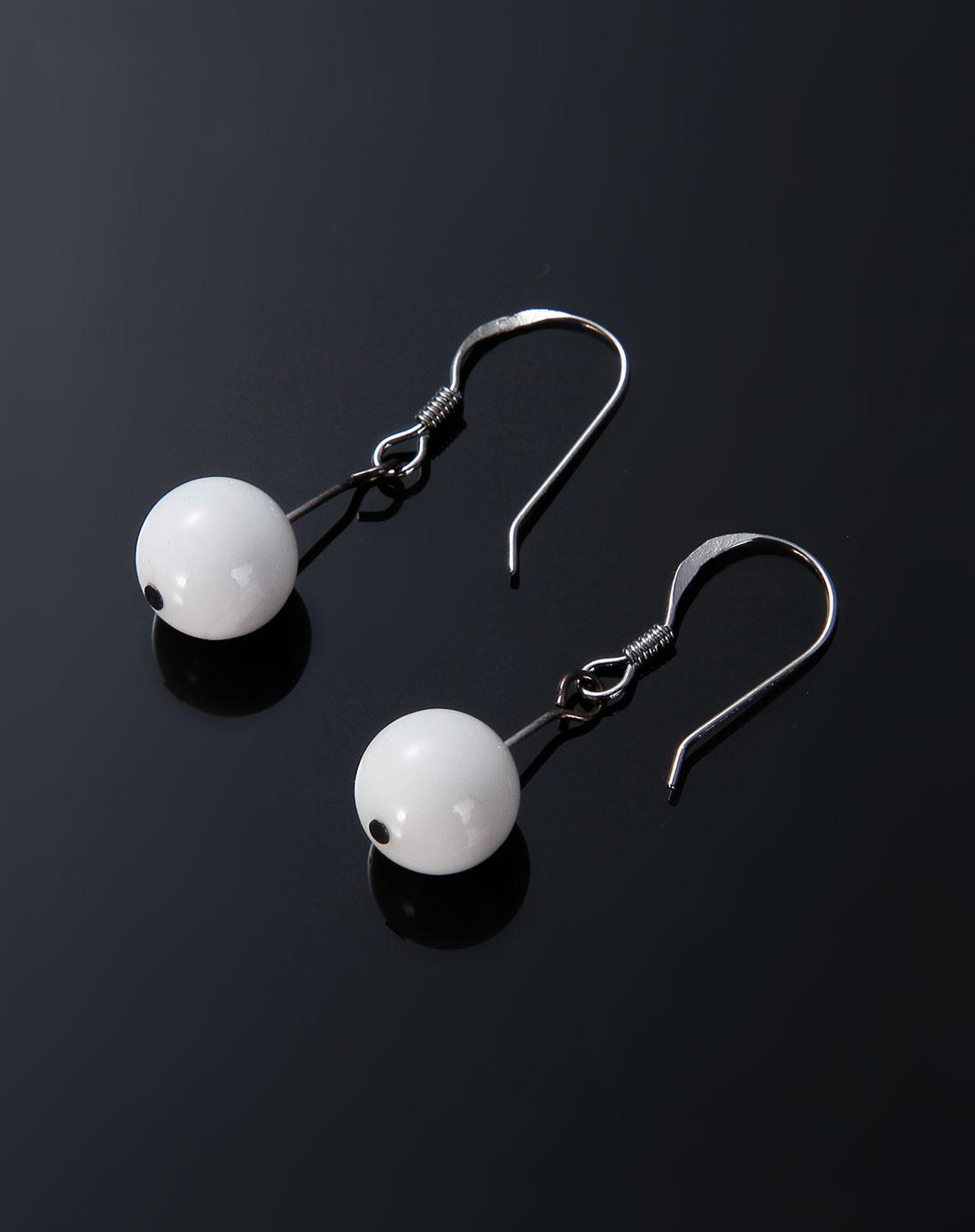 玉石饰品库存专场-博金珠宝 白色砗磲耳钉