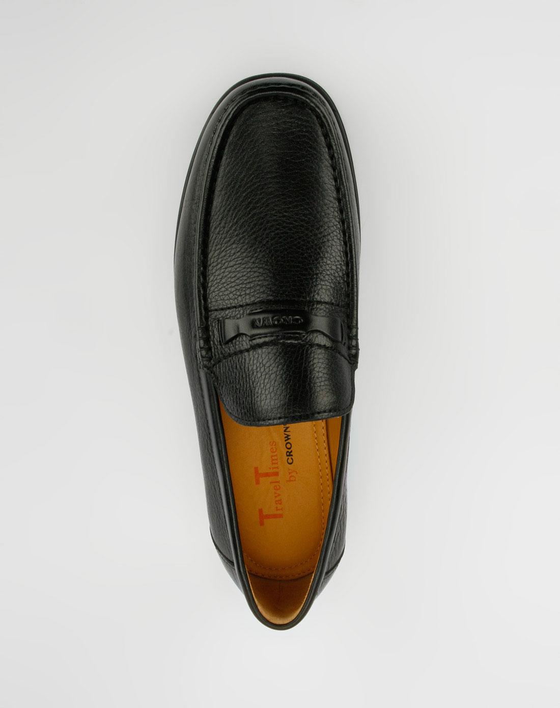 皇冠crown-男鞋男款黑色皮鞋4