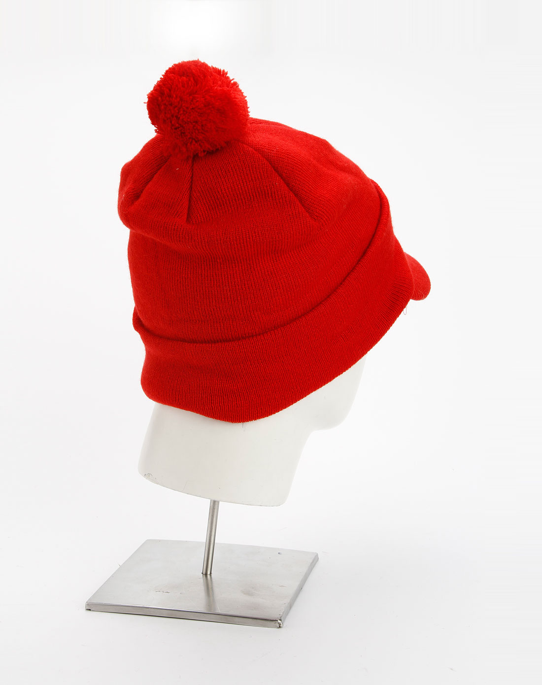 史努比snoopy童装男童红色休闲针织帽子