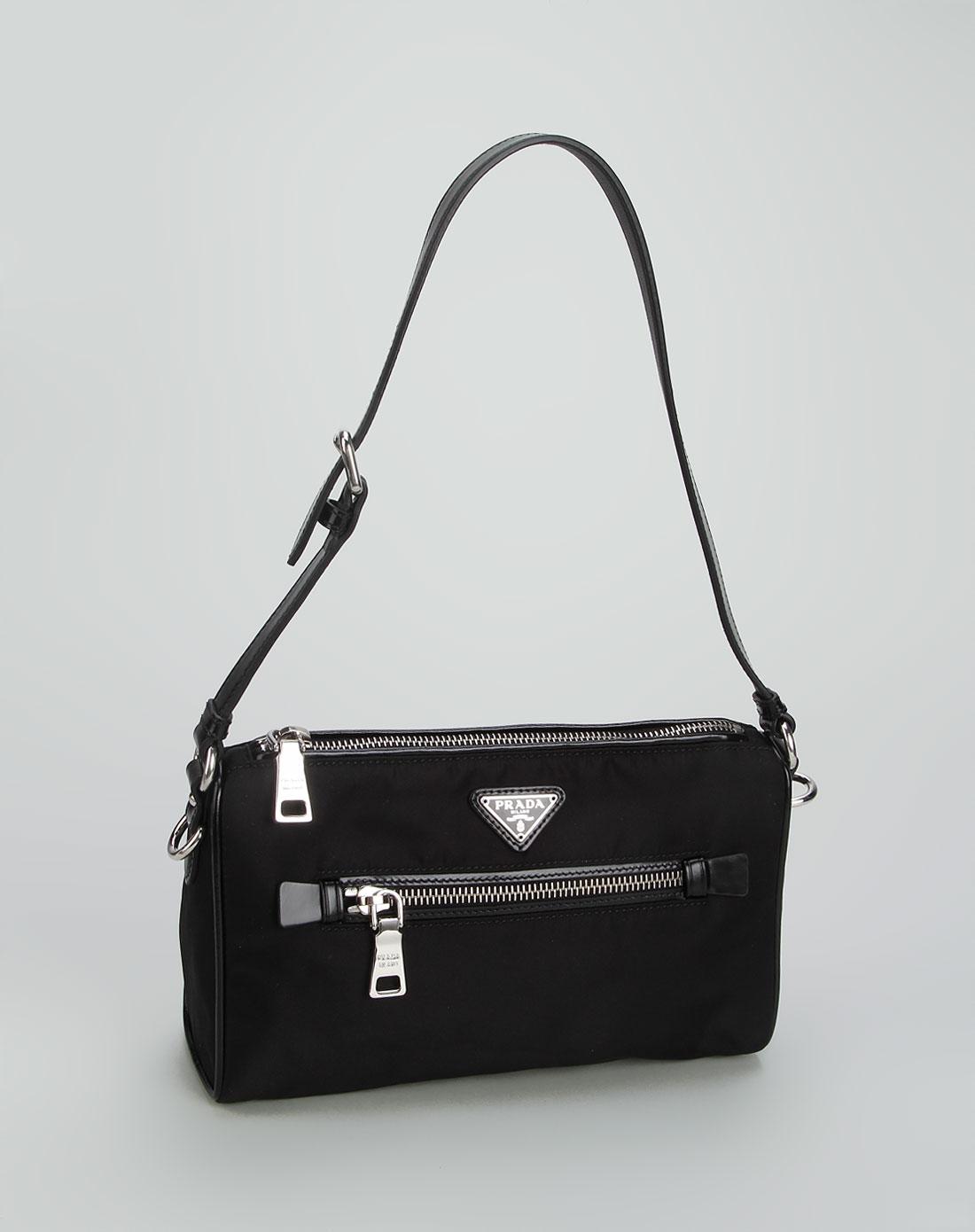 prada女款黑色简约休闲手提包