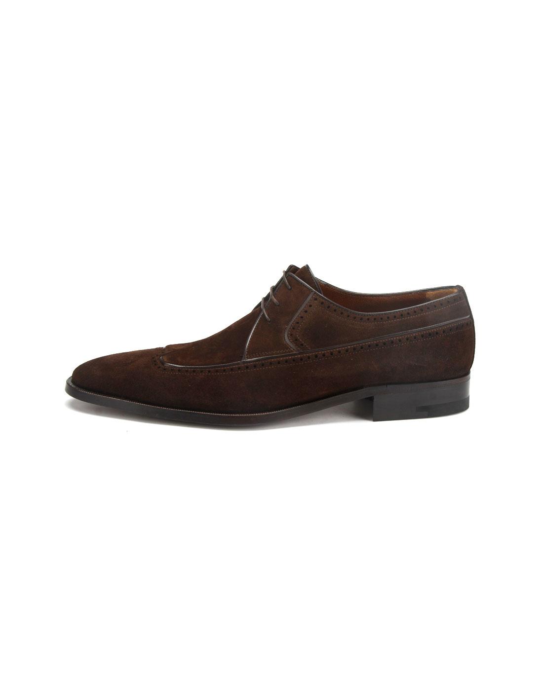 男款褐色绒面皮鞋2_铁狮东尼a.testoni官网特价1