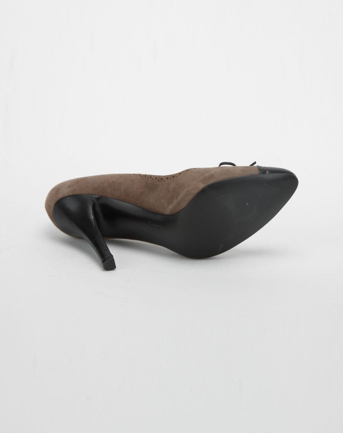byford女款啡/黑色拼接高跟鞋
