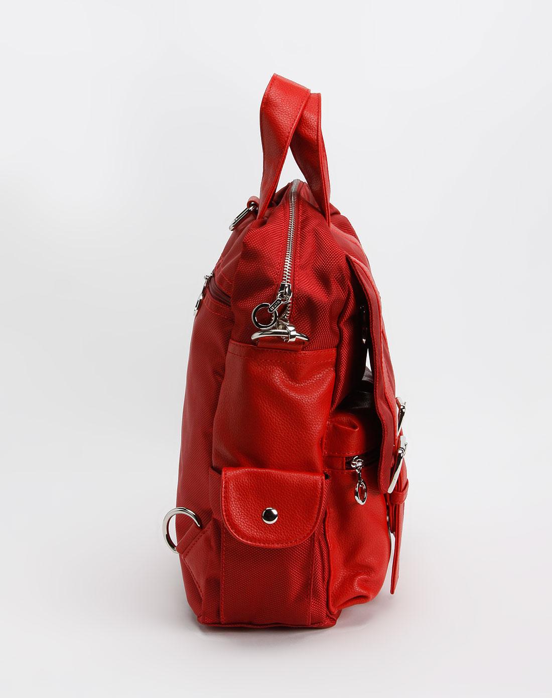 女款红色休闲小背包