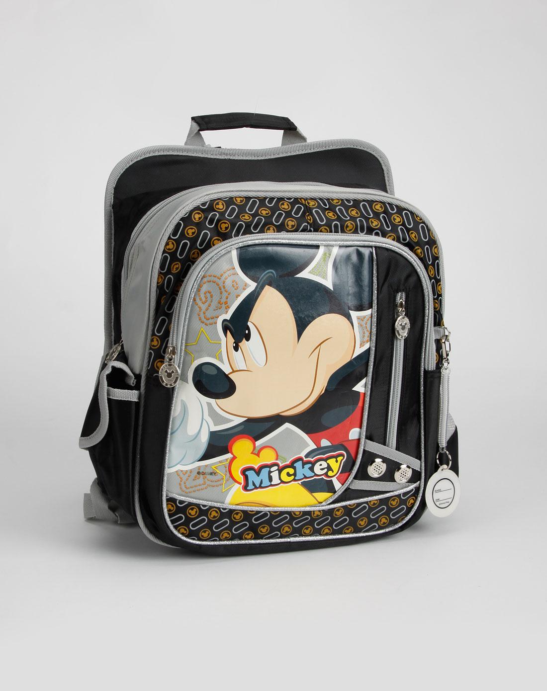 迪士尼disney-书包男童黑色米奇老鼠书包