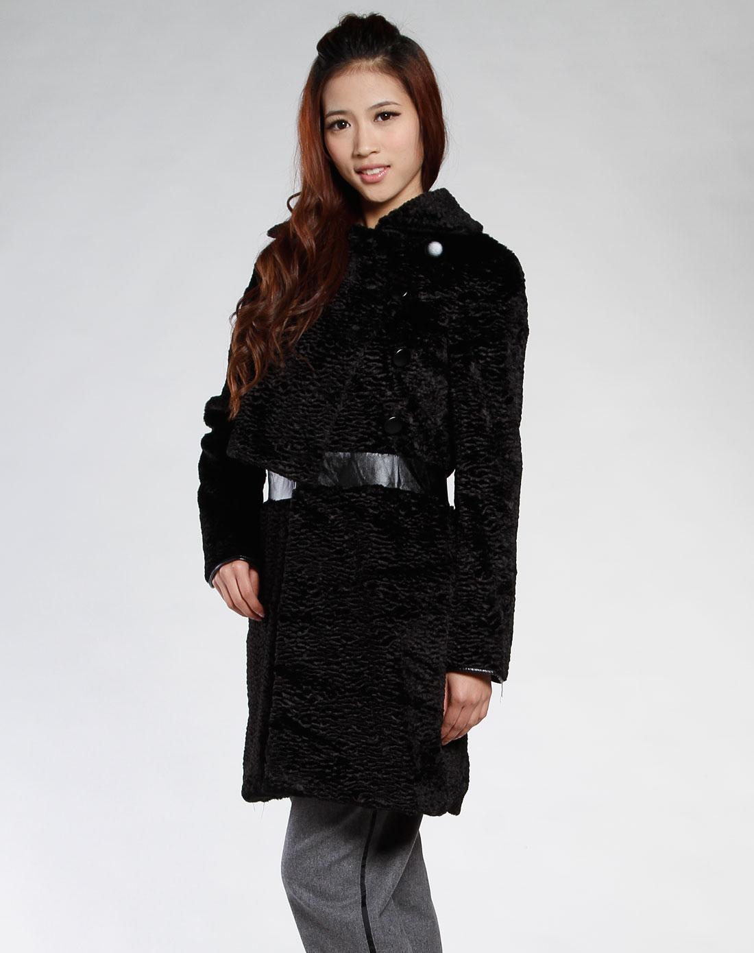 黑色大衣女_黑色呢子大衣