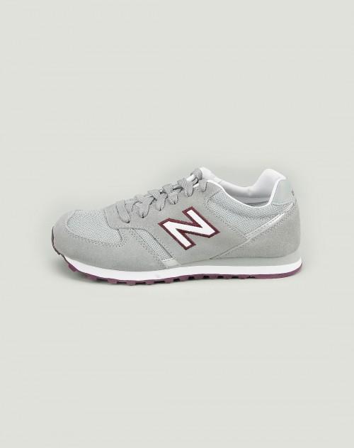 女款网面浅灰色休闲鞋