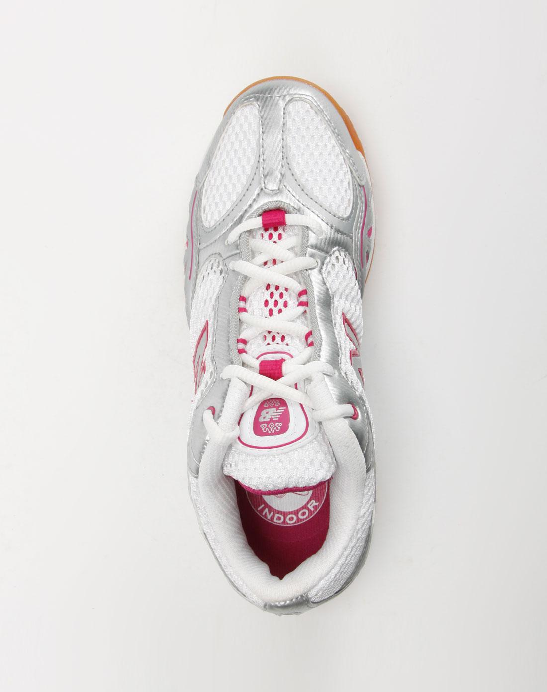 新百伦new balance-女装女款白/银色网眼运动鞋