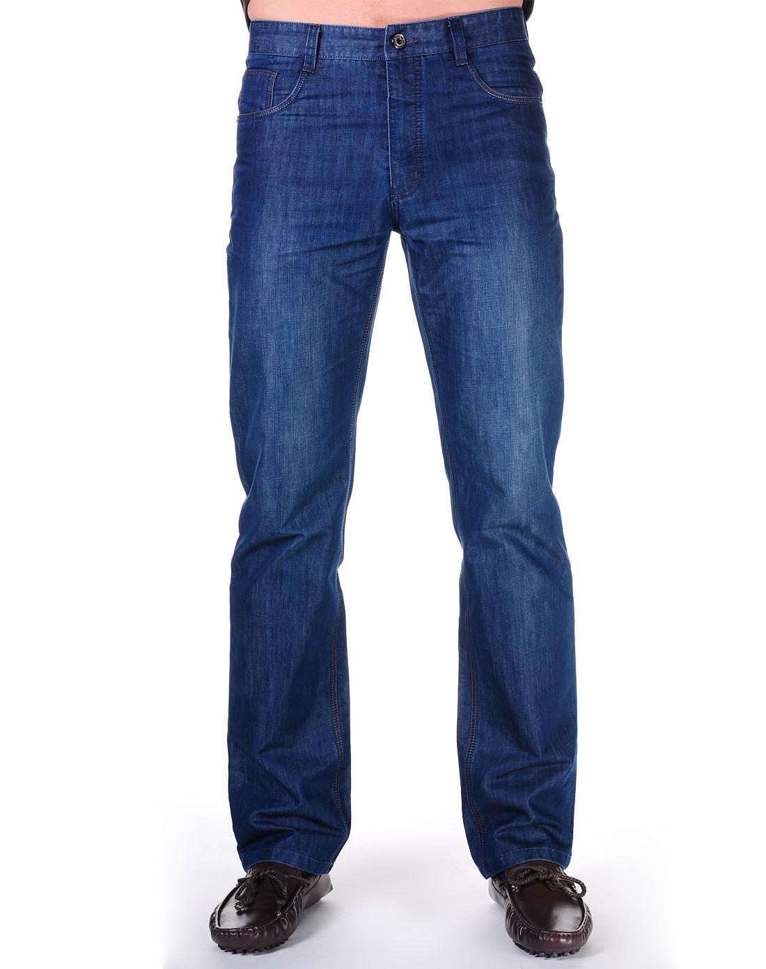 男款牛仔蓝牛仔裤