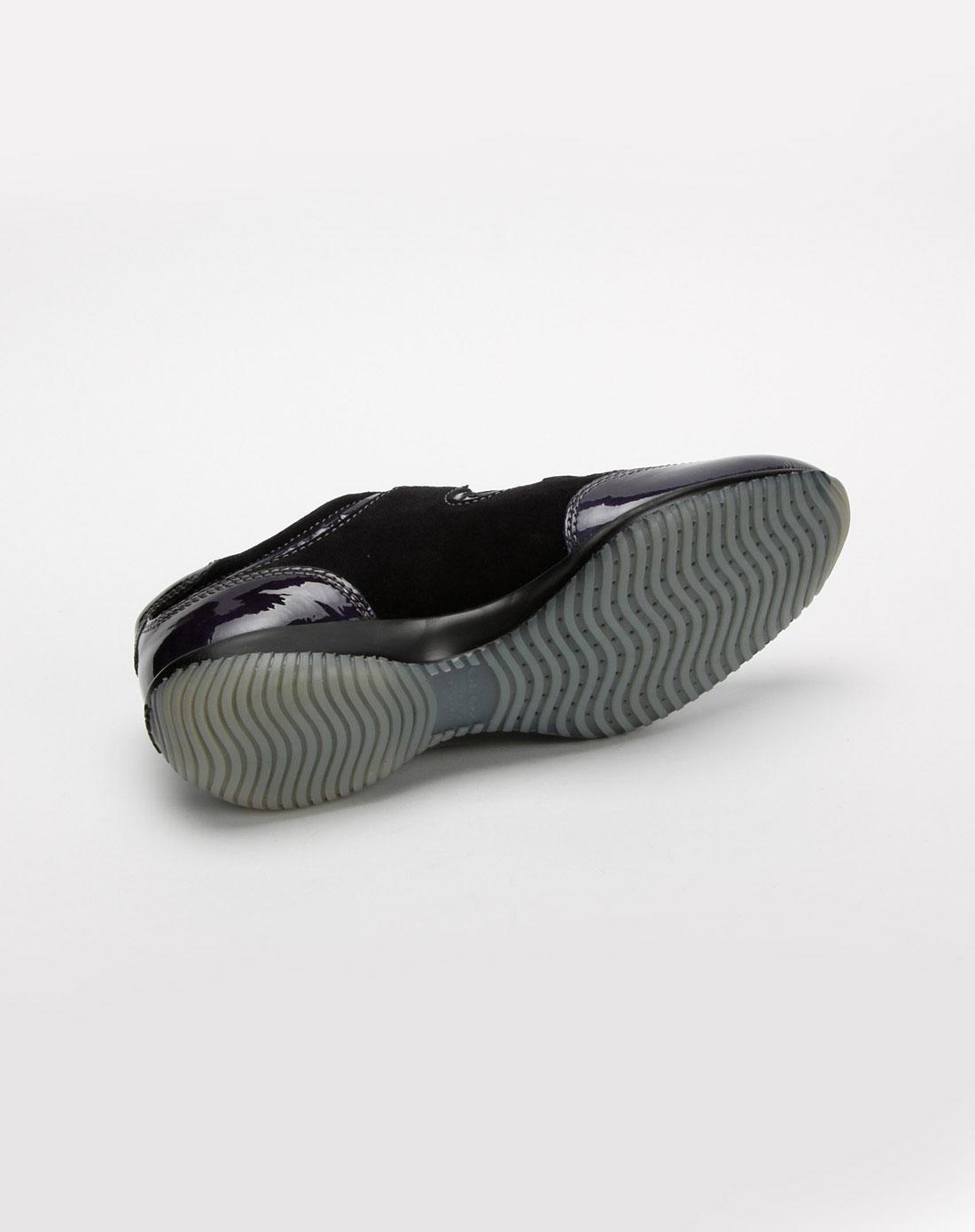 乐士geox女款深蓝/黑色休闲鞋