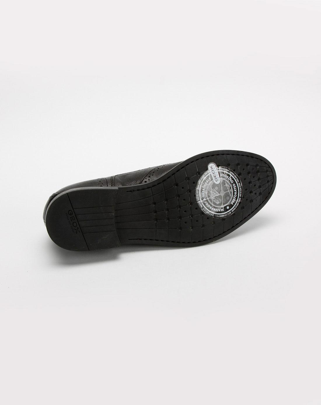 健乐士geox男款黑色时尚牛皮鞋