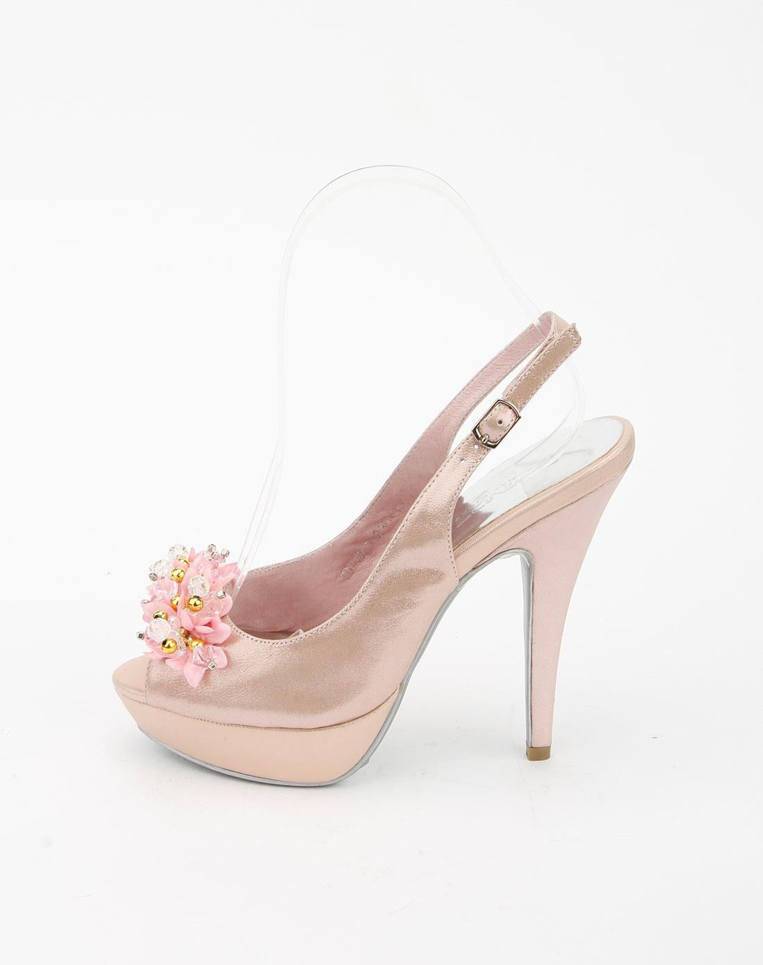 四季风粉红色时尚高跟鞋_唯品会名牌时尚折扣网