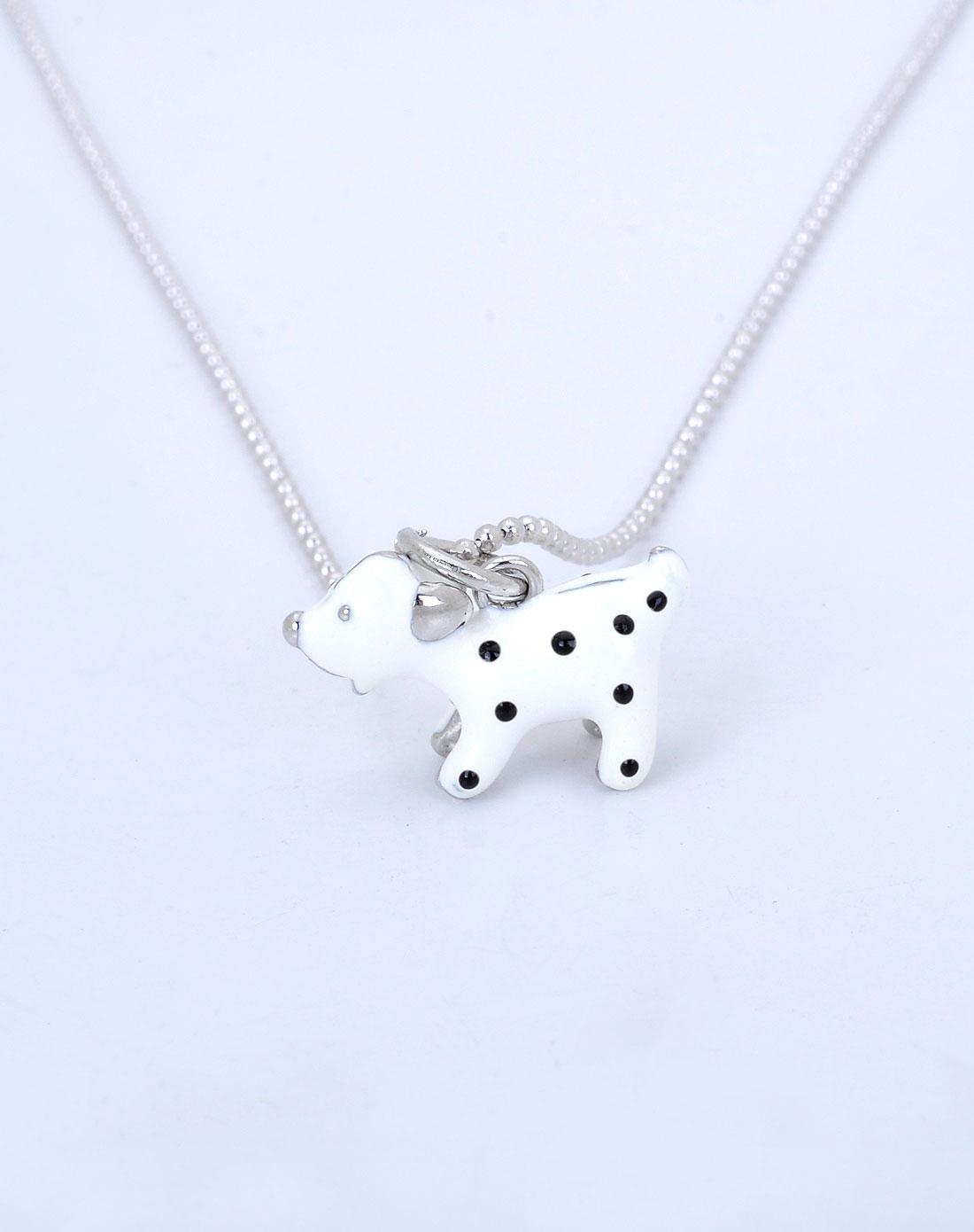 cling白色可爱小狗项链
