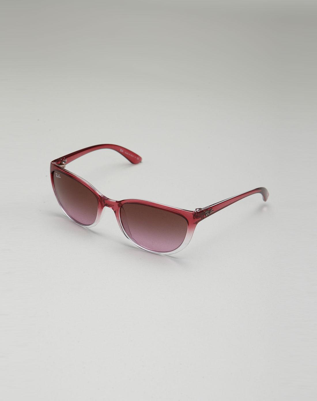 女性紫红/透明色渐变时尚太阳镜