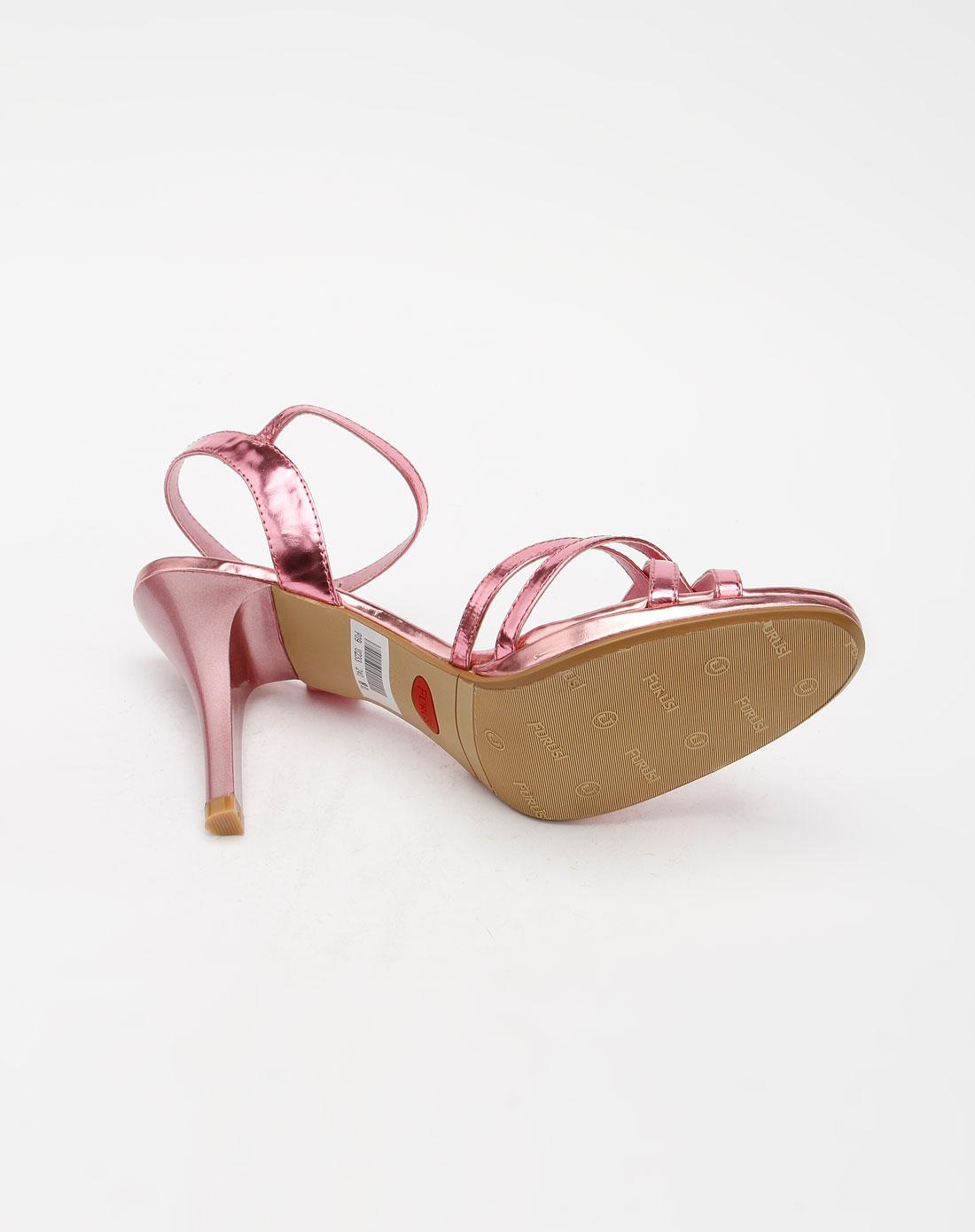 furuisi女款粉色时尚高跟凉鞋