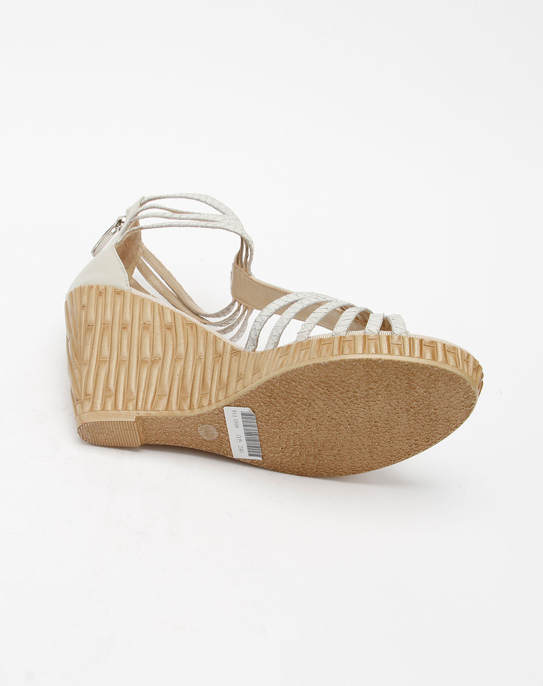 furuisi女款白色时尚高跟凉鞋f11