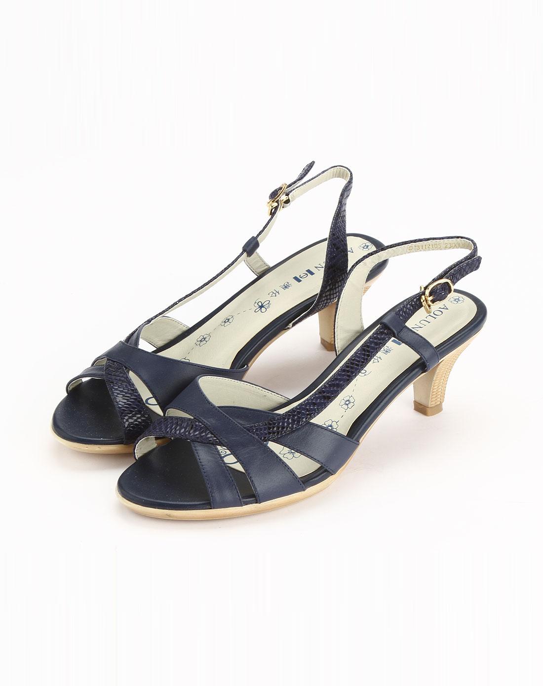 澳伦aolun蓝色时尚简约凉鞋d2311210505