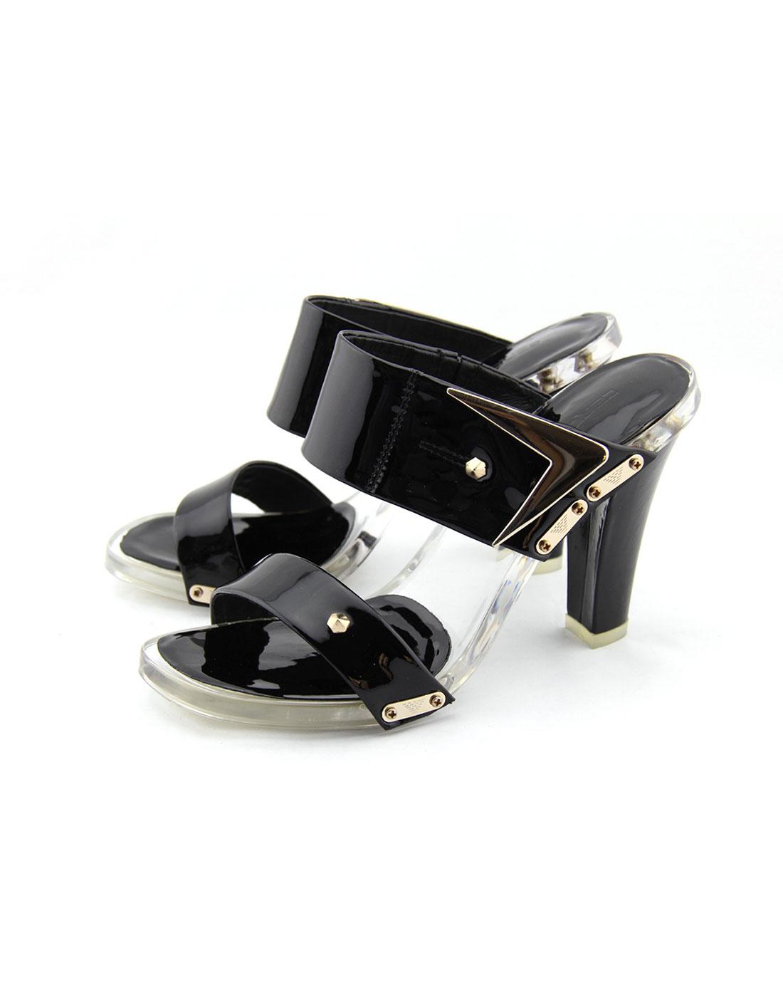 卡丹路cardanro女款黑色凉鞋