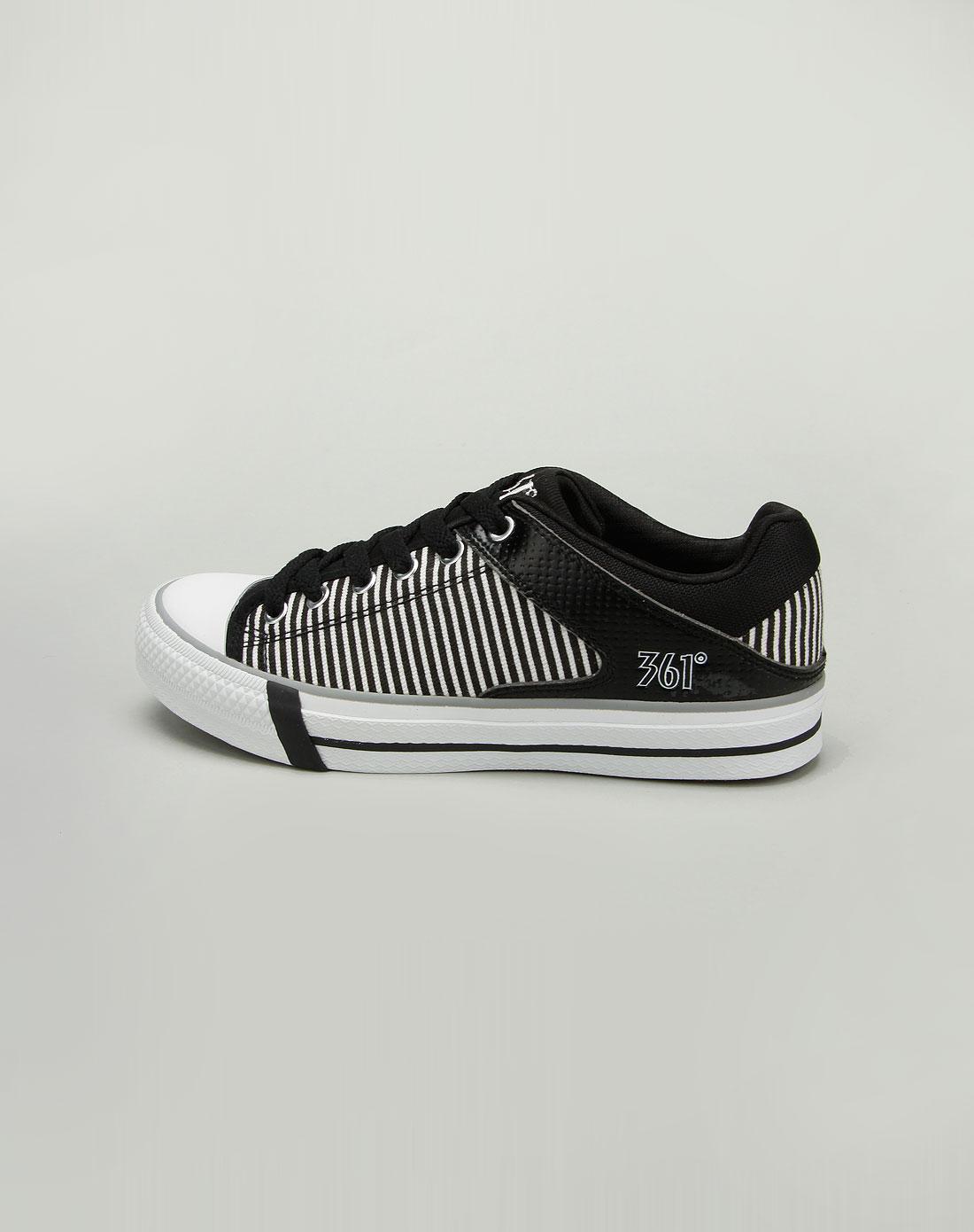 361°女款黑色帆布鞋