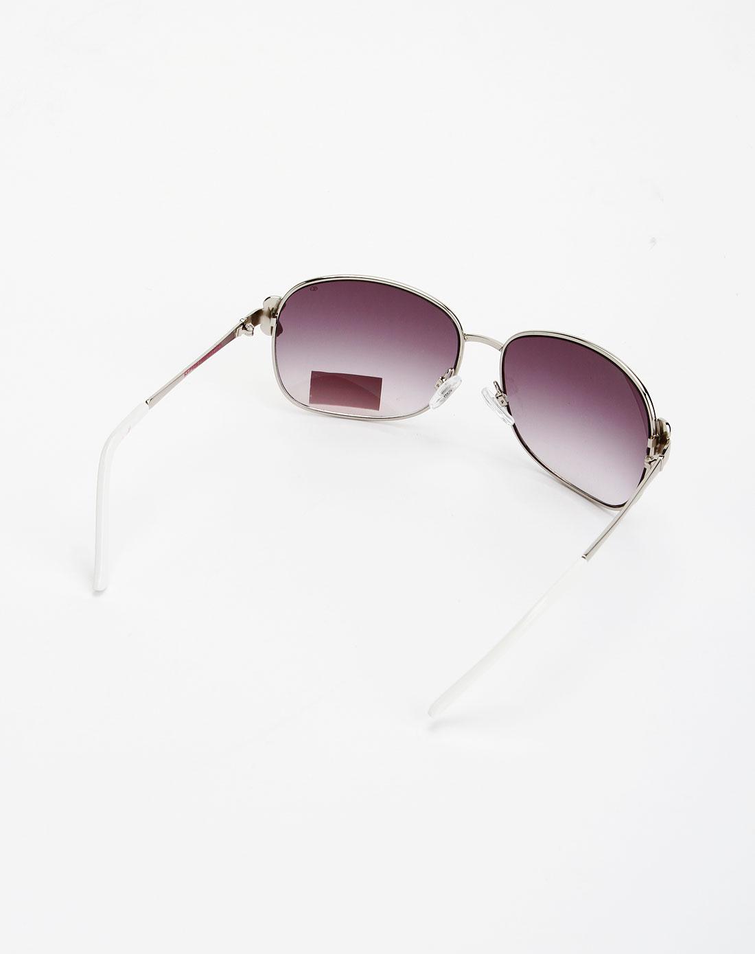 女款棕红/银/白色时尚太阳眼镜