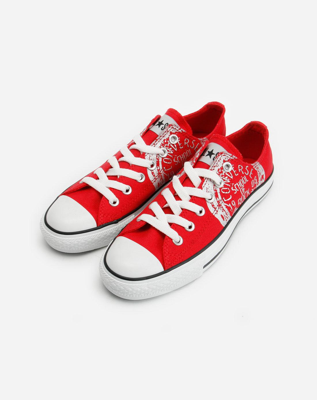 匡威 中性红色休闲布鞋
