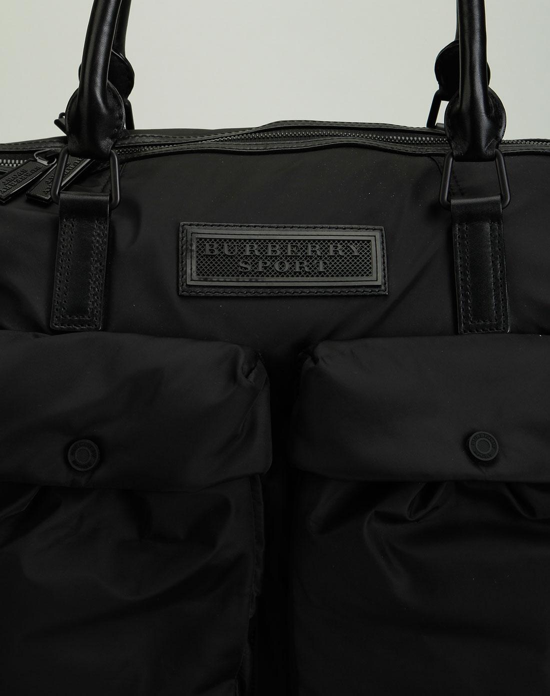 burberry中性黑色实用手提/斜跨两用包04