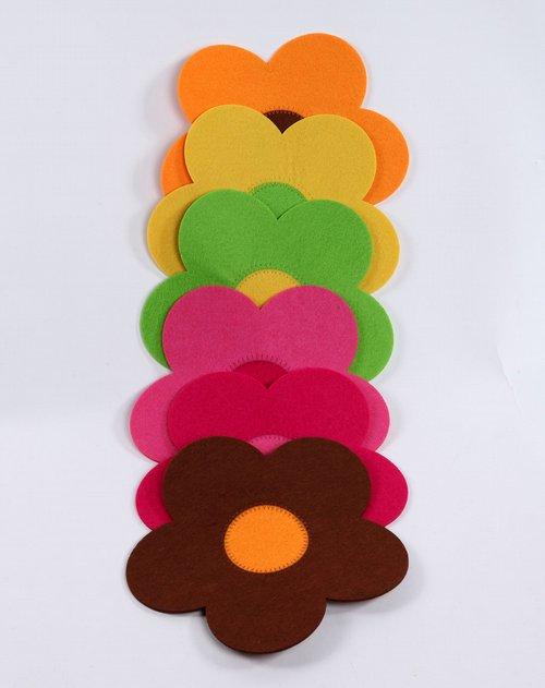 h 3彩色太阳花餐盘垫
