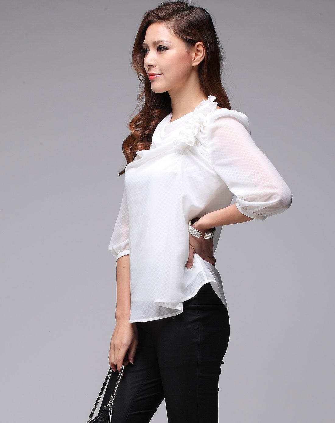 红色雪纺上衣女夏_上衣白色女哪种牌子比较好 上衣白色女雪纺价格