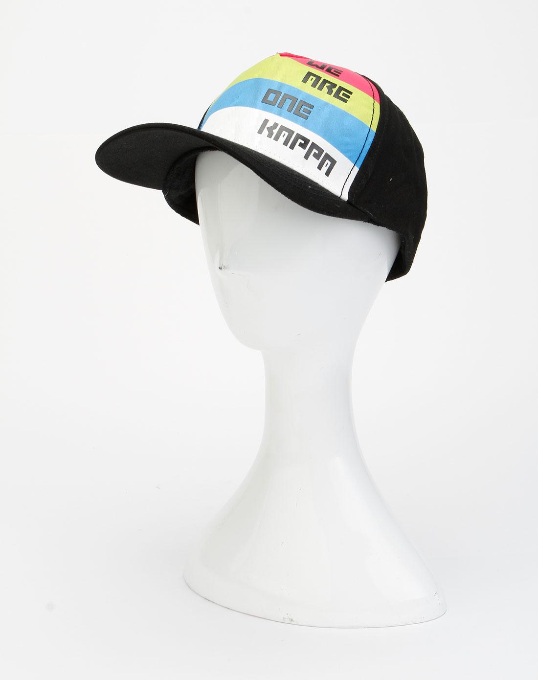 卡帕kappa男装专场-黑色时尚简约鸭舌帽