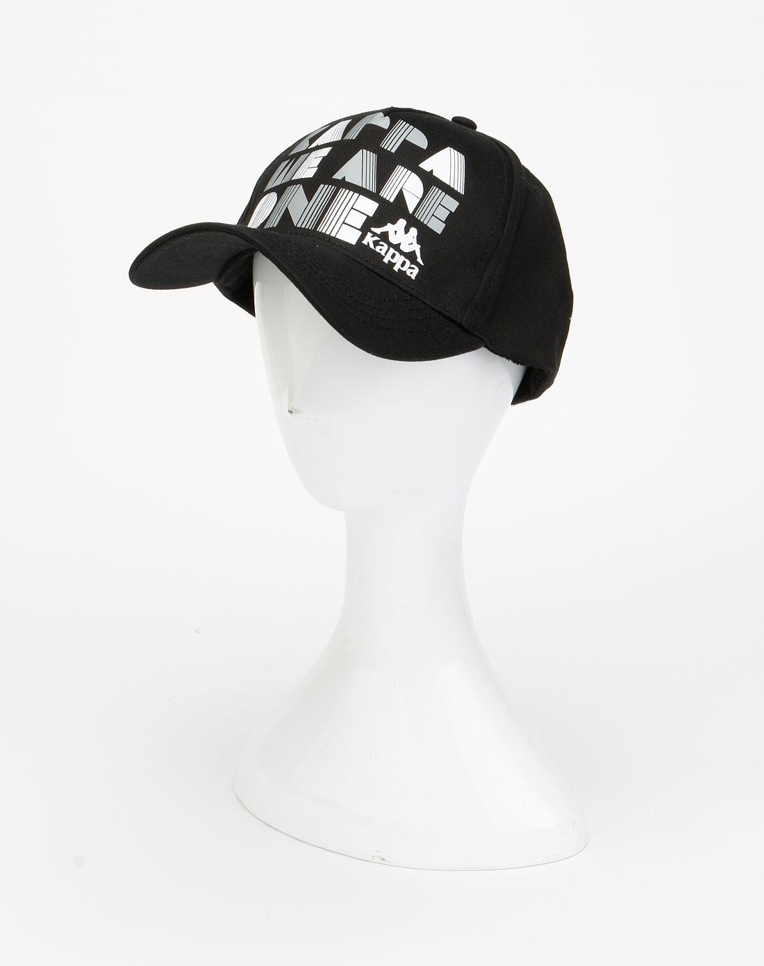 卡帕kappa男装-黑色时尚简约鸭舌帽