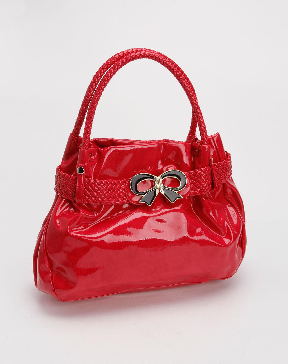 cne桃红色亮面pu手袋