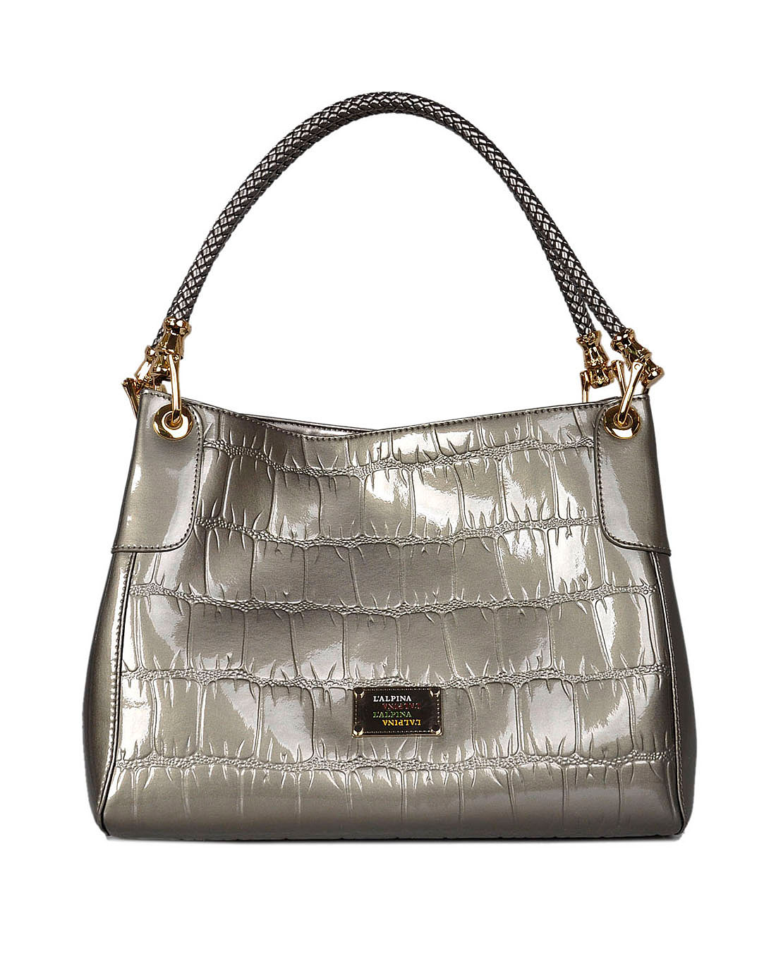 女款银灰色手提包