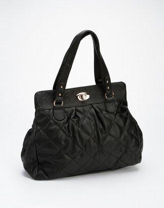 蜜丝罗妮marchiori黑色羊纹pu手袋32210984-0001