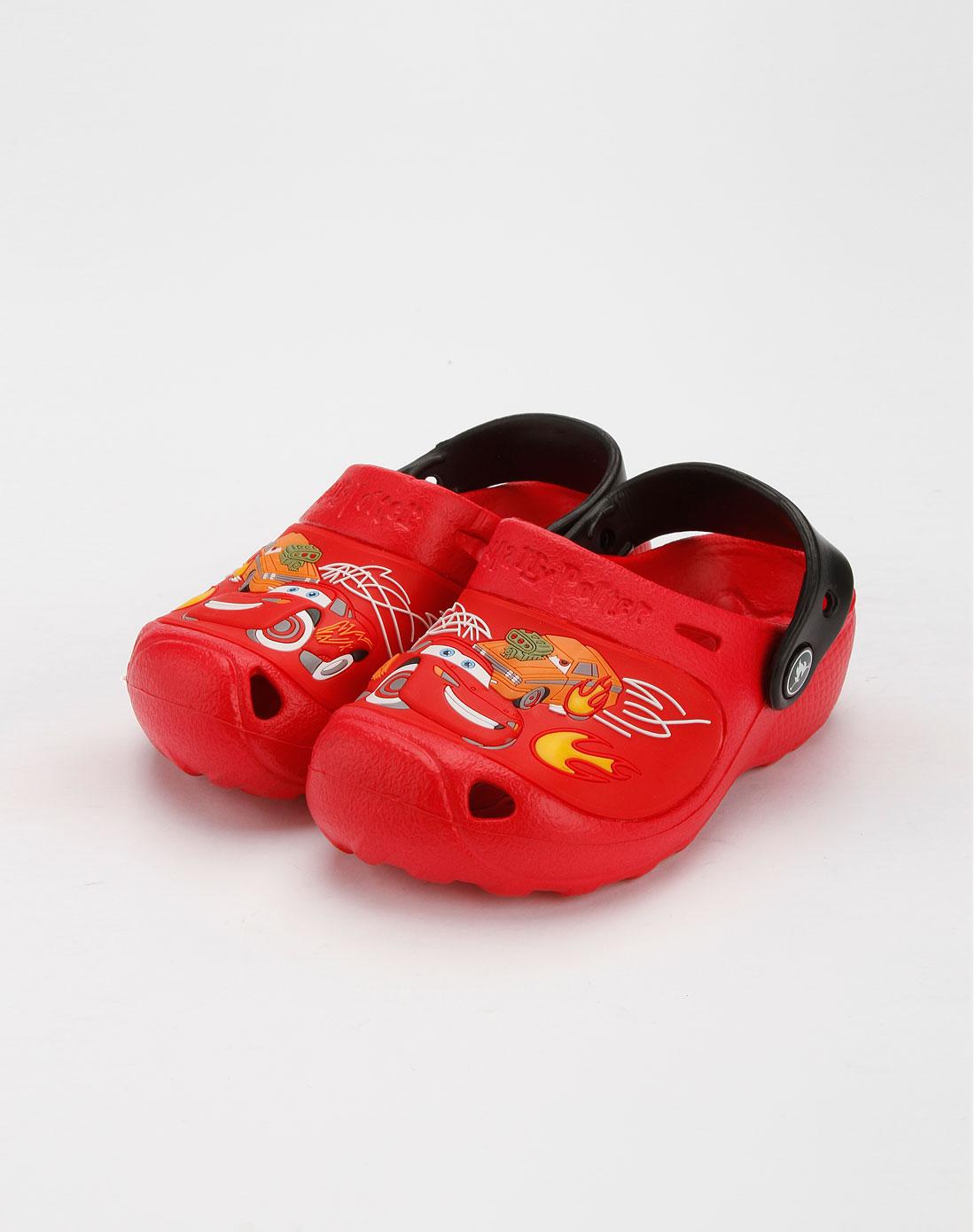 女童红色时尚凉鞋