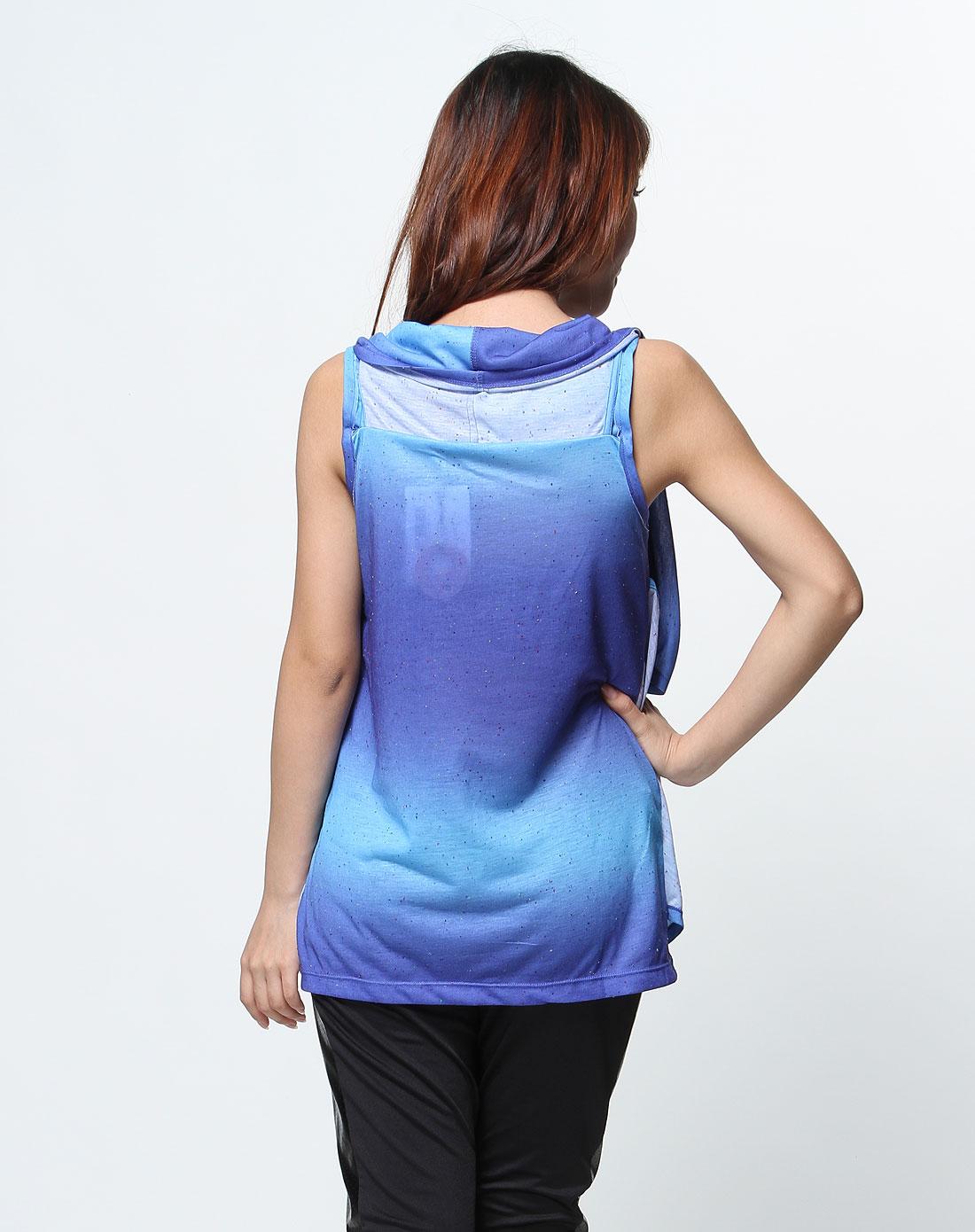 rocawear蓝色渐变个性无袖t恤