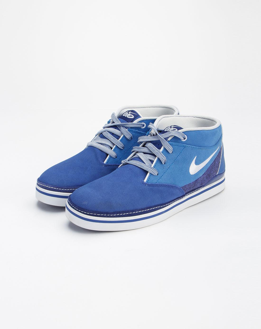 耐克nike蓝色休闲时尚绑带运动鞋